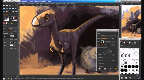 gimp creating images speedpainting in gimp dinosaur illustration youtube