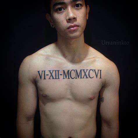 roman numeral tattoos for men 75 numerals tattoos