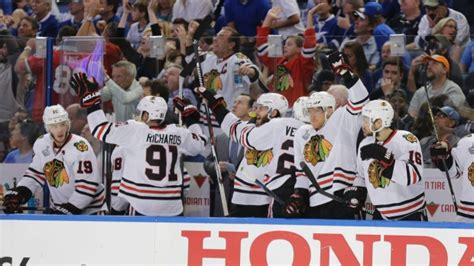 blackhawks bench thumbs up to blackhawks perseverance down to biting