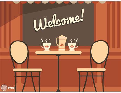Welcome To Cafe welcome coffee prezi premium templates