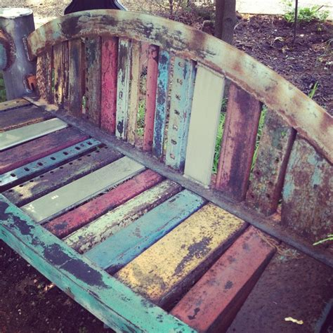 fabric covered bench 1000 images about bench painting on pinterest outdoor