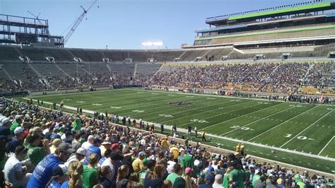 notre dame stadium visitor section notre dame stadium section 6 rateyourseats com
