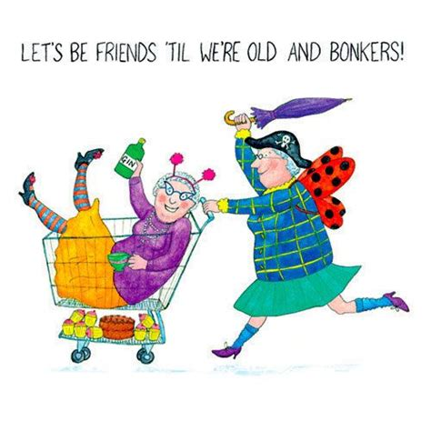 great clips senior citizen age group for discount crazy old ladies greeting card let s be friends til we re