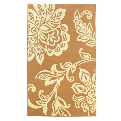 linon home decor collection beige and white 4 ft 3