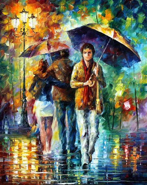 people painting leonid afremov oil on canvas palette knife buy original