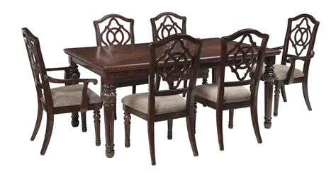 Aspenhome Classics 7pc Formal Dining Leahlyn 7 Rectangular Dining Set In Reddish Brown