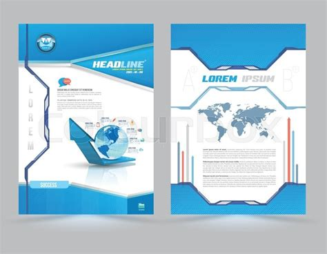 Cover Page Layout Template Technology Style Vector Illustration Can Use For Leaflet Brochure Digital Catalog Template