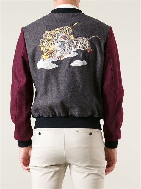 kenzo jacket kenzo flying tiger bomber jacket in pink for lyst