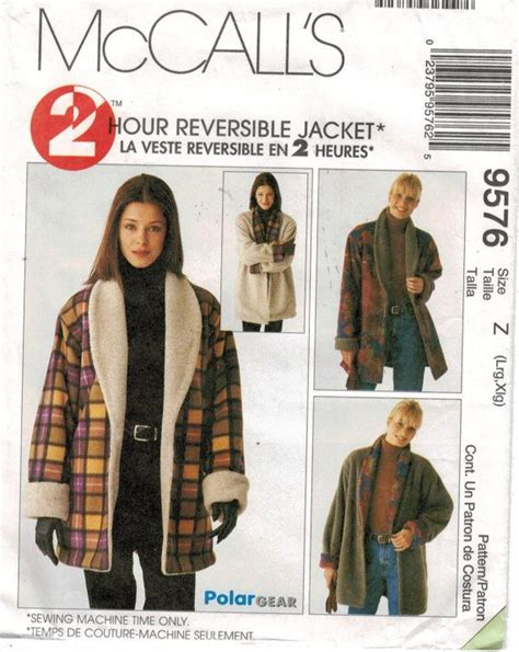 sewing pattern reversible quilted jacket cozy reversible fall jacket from mccalls patterns https