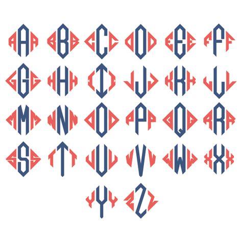 diamond pattern font triangle diamond monogram svg cuttable designs