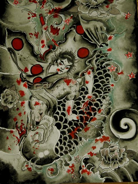 Traditional Japanese Drawings Traditional Japanese Peice By Shescomeundone On Deviantart