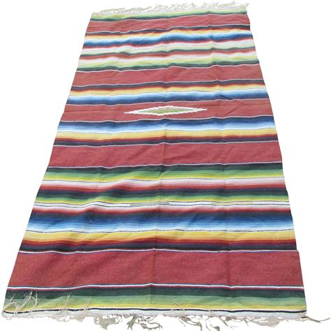 chimayo rug c1920 30s woven mexican chimayo blanket throw or tablecloth