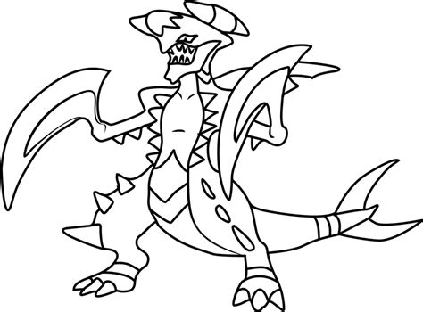 mega coloring pages mega garchomp coloring page free printable