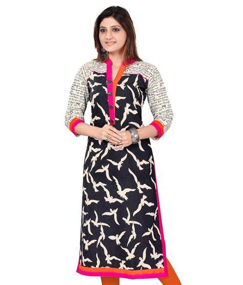 design house kurta online designer kurtis black cotton printed kurti buy designer