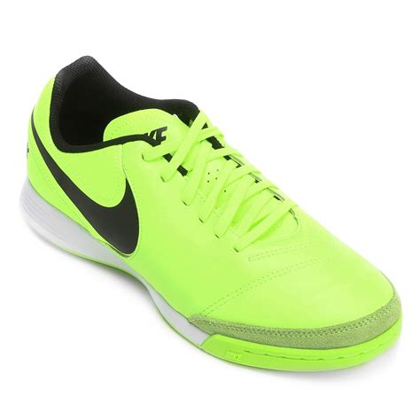Sepatu Futsal Nike Tiempox Genio 2 Leather Ic Putih Hijau Original New indoor nike tiempox genio ii leather ic 819215 707 verde