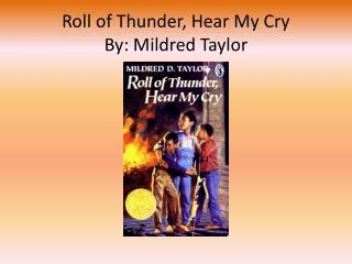 themes in the book roll of thunder ppt roll of thunder hear my cry powerpoint presentation