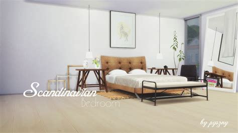 the sims 4 bed cc sims 4 cc s the best scandinavian bedroom set by pyszny