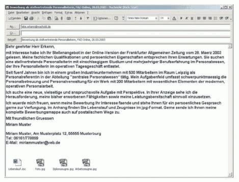 Bewerbung Email Welches Format 9 bewerbung per email muster resignation format
