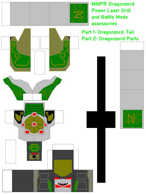 How To Make A Paper Power Ranger Morpher - power rangers on sentaipapercraft deviantart