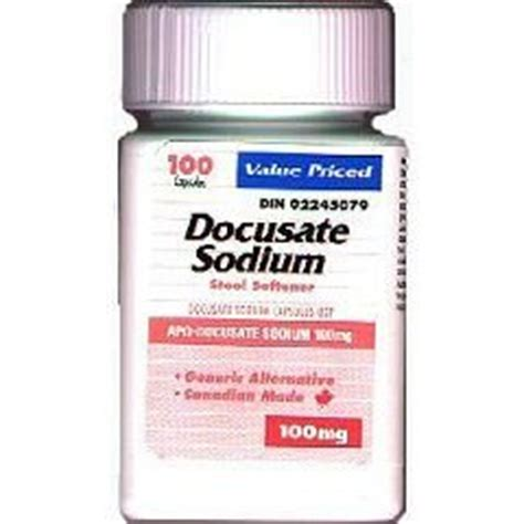 Side Effects Of Docusate Sodium Stool Softener by Docusate Sodium Compares To Colace 250 Mg Soft Gel Pills Bottle Of 100 Health