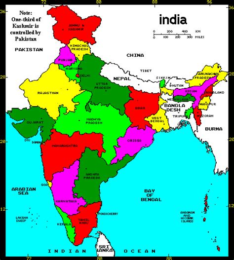 map of india states political map of india with hyperlinks