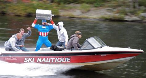 on a boat beer irti funny picture 9036 tags captain america