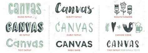 Font Acrylic canvas acrylic megafamily font family fonts
