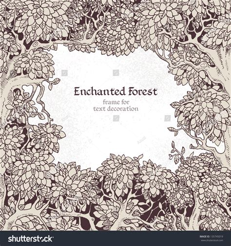 What Is Text Decoration by Frame Text Decoration Enchanted Forest Stock Vector