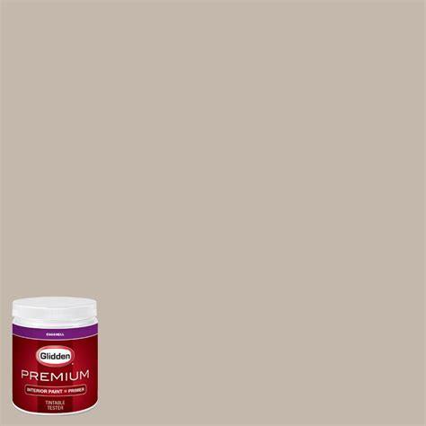 glidden premium 8 oz hdgwn24 harbor greige eggshell interior paint with primer tester