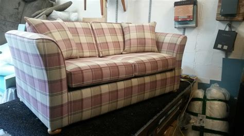 checked fabric sofas sofa bed re upholstered in hebrides check fabric