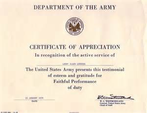 army certificate of achievement template army certificate of achievement template