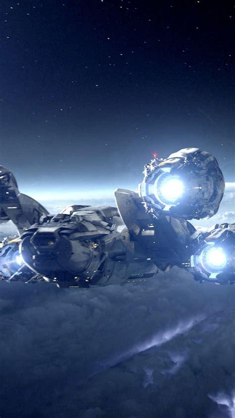 wallpaper alien covenant  starship planet