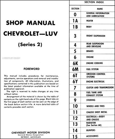 hayes auto repair manual 1979 chevrolet luv auto manual 1979 chevrolet luv wiring diagram 33 wiring diagram images wiring diagrams creativeand co