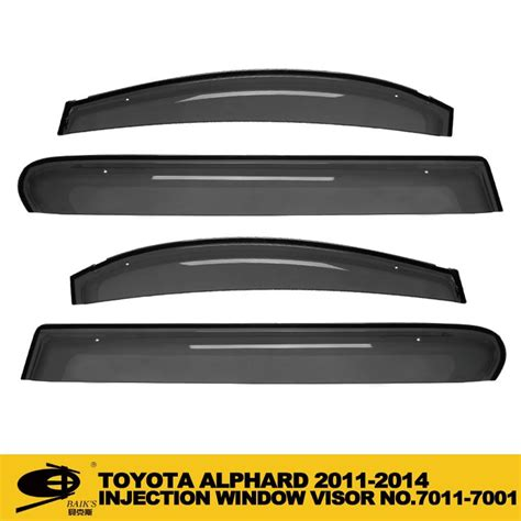 Talang Air Alphard Injection 2011 window vent visor deflector guard4 pc set injection door visor for toyota alphard 2011 2014