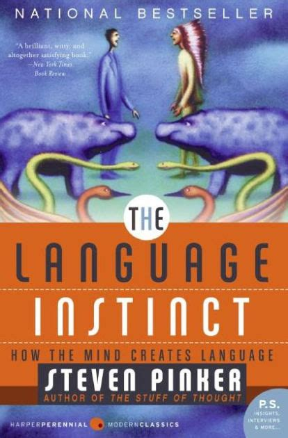 libro the language instinct how the language instinct how the mind creates language by steven pinker paperback barnes noble 174