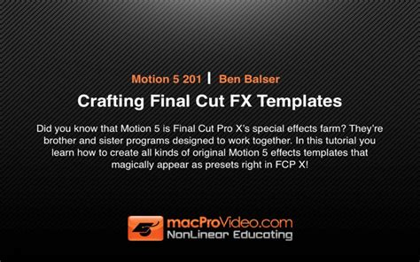 download free mpv s motion 5 201 crafting final cut fx