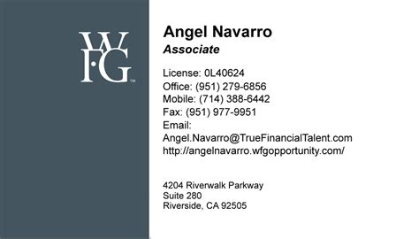 wfg business card template business cards riverside ca images card design and card