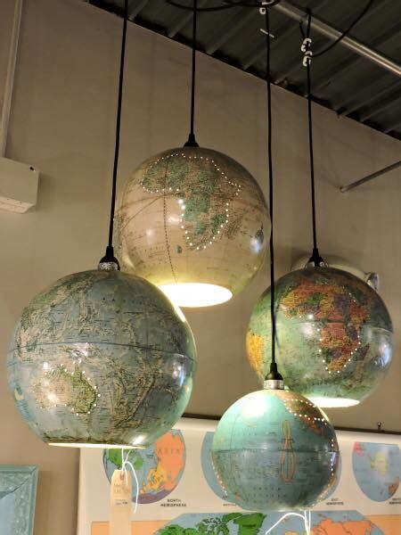 World Globe Light Fixture Great Idea For Your Children S Room Upcycled World Globe Reuse Pinterest World Globes