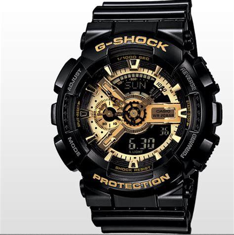 coolest casio g shock black and gold ga110gb 1a