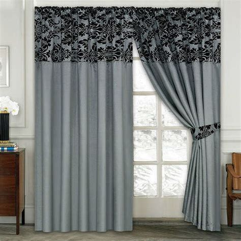 Curtains On A Window Luxury Damask Curtains Pair Of Half Flock Pencil Pleat