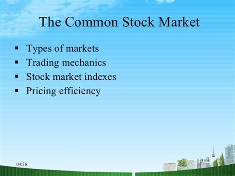 Mba In Stock Market Analysis by The Common Stock Market Ppt Mba Finance