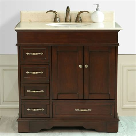 left side sink bathroom vanity virtu oxford 36 inch single sink bathroom left side