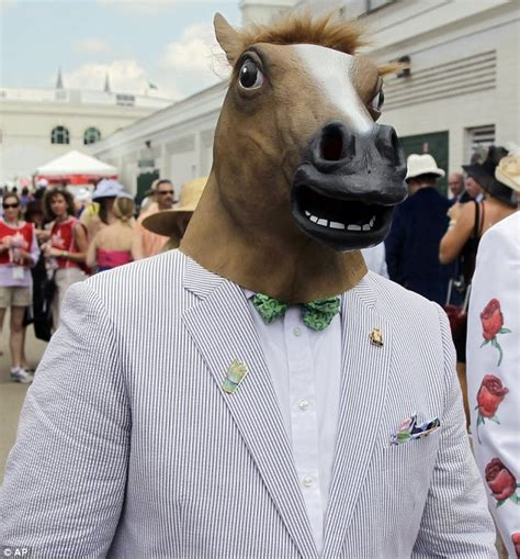 girl wearing horse head mask kentucky derby 2012 hats i ll have another wins as rain