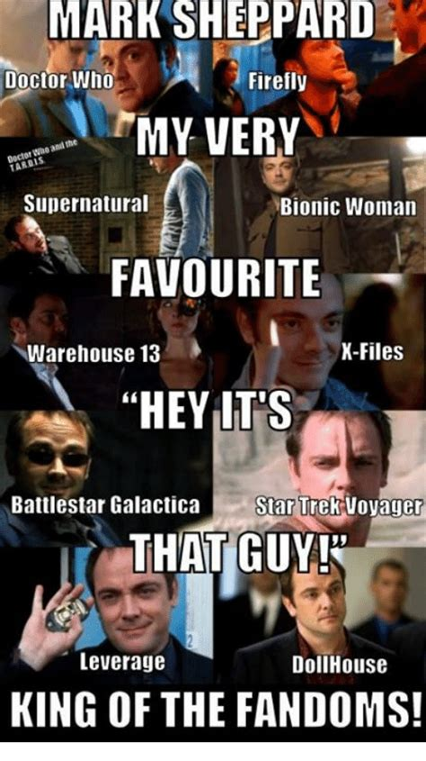 Warehouse Meme - mark sheppard doctor who firefly my very tarbis supernatural bionic woman favourite x files