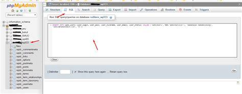 wordpress tutorial user login create user database login wp admin rumahweb s news
