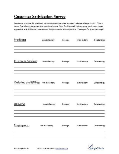 customer service survey template free customer satisfaction survey