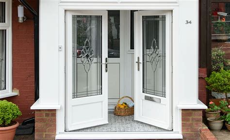 Exterior Porch Doors Glass Window Options Decorative Stained Etched