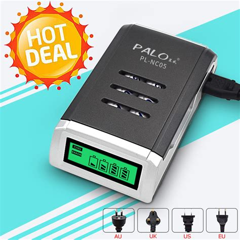 Ad5717 Smart Charger Palo 4 Slot For Aa Dan Aa Kode Gute5583 2 aliexpress buy palo 4 slots lcd display smart fast charging intelligent battery charger