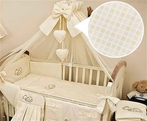 luxury 10 baby cot bedding set cotbed nursery canopy