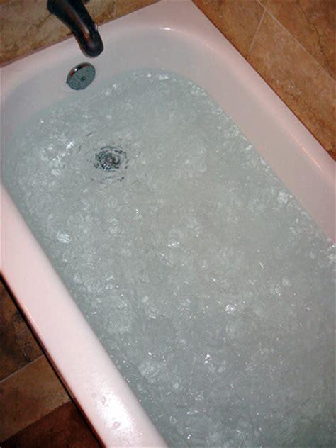 ice bathtub ice bath running groove shark